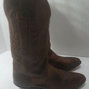 Vintage Code West Men's Leather Cowboy Boots Sz 8